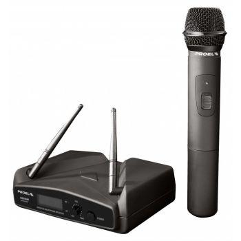 Proel WM100M Sistema de Micrófono Inalámbrico de Mano VHF