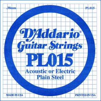D´addario PL015 Cuerda Suelta para Guitarra Eléctrica
