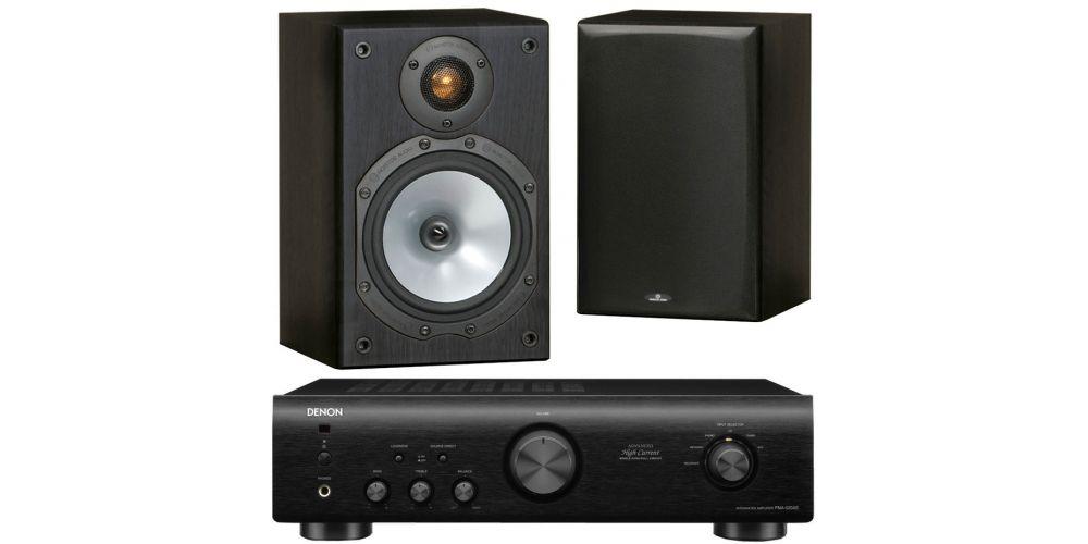 denon pma 520 black monitor audio mr1 black