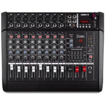 VONYX AM8A Mezclador de 8 canales con amplificador DSP/BT/SD/USB/MP3 172574