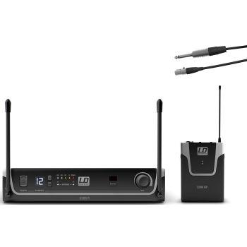 LD Systems U306 BPG Sistema inalámbrico UHF con Petaca y Cable de Guitarra