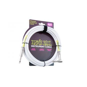 Ernie Ball 6047 Cable Ultraflex Jack a Jack 5 Metros Blanco