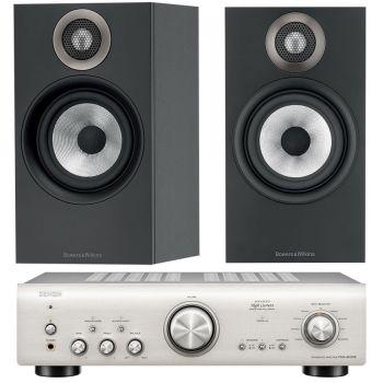 Denon PMA-800AE Silver+BW 606 Black Conjunto Audio