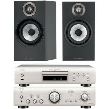 Denon PMA800 AE Silver+DCD800 Silver+B&W 606 Black Conjunto Sonido
