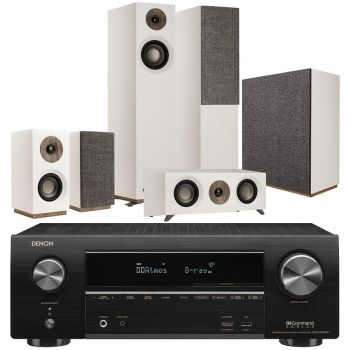 Denon Equipo AV AVR-X1600 +Jamo s805 HCS White+S808Altavoces Home Cinema.