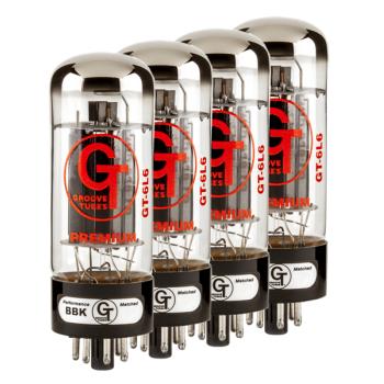 Groove Tubes GT-6L6-R Quartet Válvulas de Amplificador