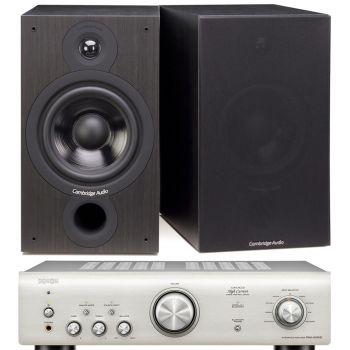 Denon PMA-600 NE Silver+Cambridge Audio SX60 BK Conjunto audio