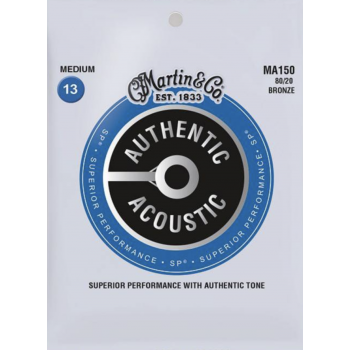 Martin MA150 Cuerdas Guitarra Acústica Authentic Sp Bronze 80/20 Medium 13-56