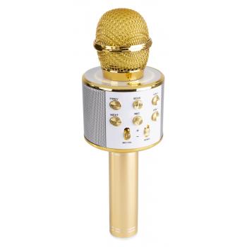 max KM01G Micrófono de Karaoke con Altavoz Incorporado bt/mp3 Dorado 130139