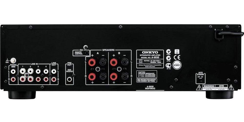 Onkyo A 9030 bk amplificador conectores