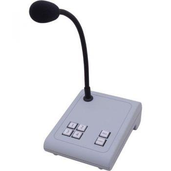 APART MICPAT-4 Microfono de Sobremesa Dinamico Para Avisos en 4 Zonas