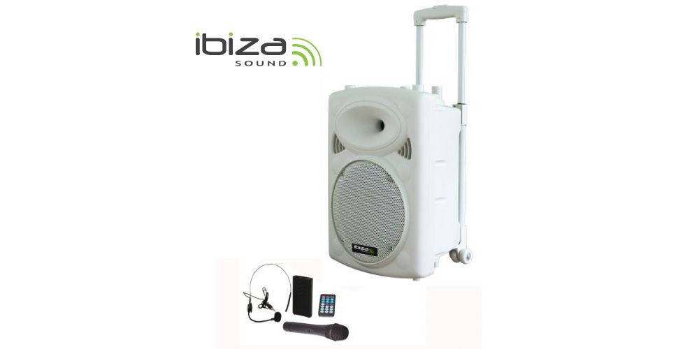 ALTAVOZ PORTATIL IBIZA SOUND PORT12VHF BT WH