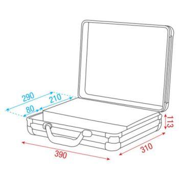 dap audio maleta 7 microfonos dimensiones