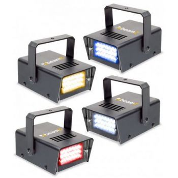 Beamz Conjunto de 4 mini LED Strobo RYBW 153325