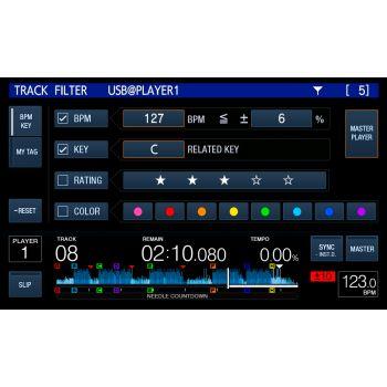 xdj 1000mk2 track filter