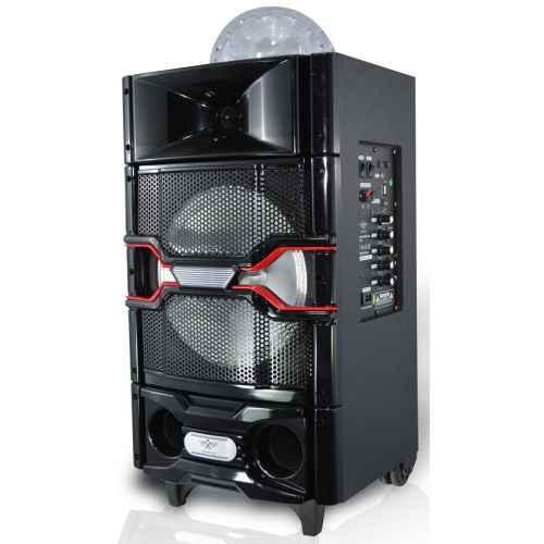 Altavoz Amplificado ICARUS IC-SS14 Bluetooth, FM, Efectos Luces y Micrófono