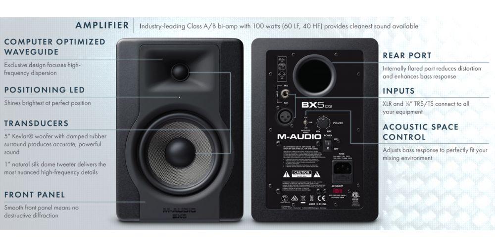 m audio bx5d3 caracteristicas
