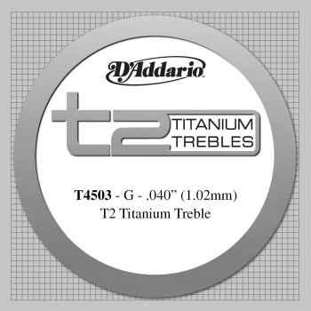 D´addario T4503 T2 Titanium Cuerda Suelta para Guitarra Española