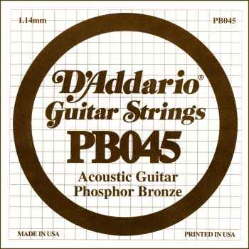 D´addario PB045 Cuerda Suelta para Guitarra Acústica