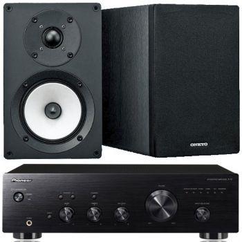 Pioneer A10K+Onkyo D055  Conjunto Audio