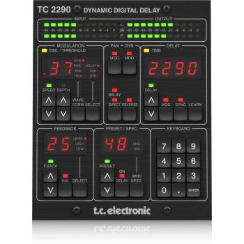 Tc electronic TC2290-DT Plug-in de delay con controlador dedicado