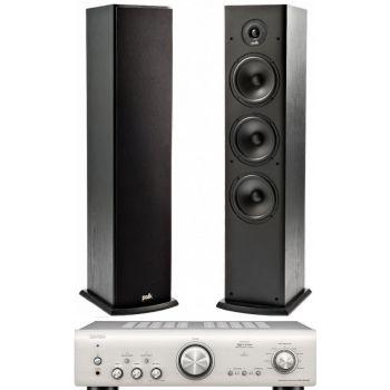 Denon PMA-800AE Silver+Polk Audio T 50 Sistema 800/ T50SCD Conjunto Audio