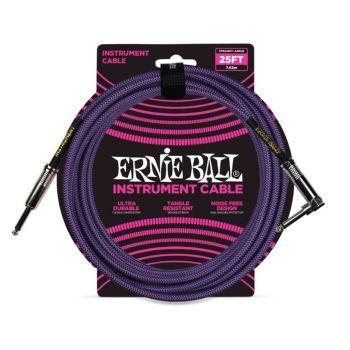 Ernie Ball 6069 Cable Instrumento Trenzado JACK-JACK 7,62 Metros Púrpura