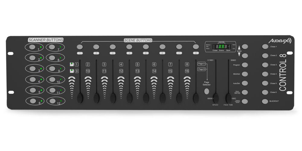 audibax control 8 oferta dmx