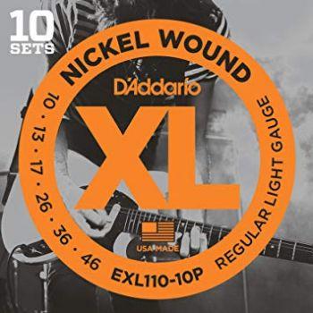 D´addario EXL110-10P Lote de 10 Juegos de cuerdas para Guitarra eléctrica