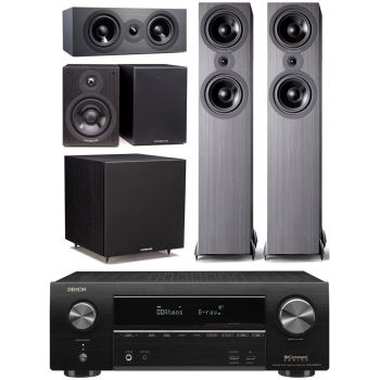 DENON AVR-X1600H + Cambridge SX80 Negro Cinema Pack 5.1 Altavoces Home Cinema