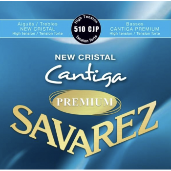 Savarez 510-CJP Cantiga Premium New Cristal Cuerdas Guitarra Clasica Tensión Fuerte
