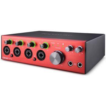 Focusrite Clarett+ 4 Pre Interfaz de Audio Usb Profesional 18 entradas y 8 salidas