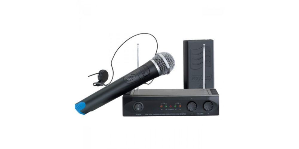 ACOUSTIC CONTROL MU-1002 SET Microfono inalambrico doble + receptor