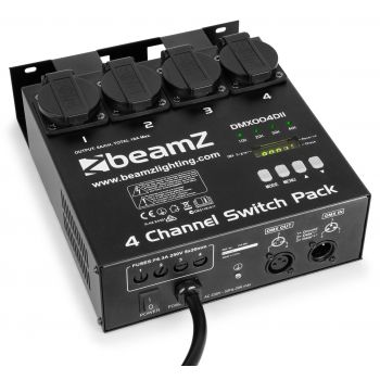 BEAMZ 154029 Panel de interruptores switch DMX512 4 canales
