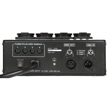 BEAMZ 154029 Panel de interruptores DMX512 4 canales