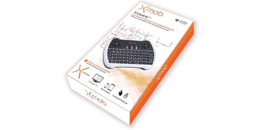 Xmob XControl PRO Mini Teclado Wireless para Smart Tv
