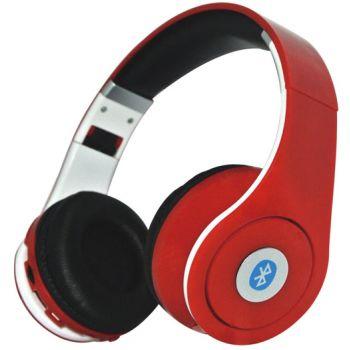 Auriculares GAM-1580 Bluetooth con Radio FM y MicroSD Rojo