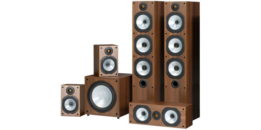 Monitor Audio POWER 6 WALNUT Kit , MR6 + MR1 + MRCENTER + MRW10,