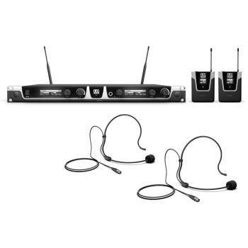 LD Systems U505 BPH 2 Sistema Inalámbrico con 2 Petacas y 2 Micrófonos de Diadema