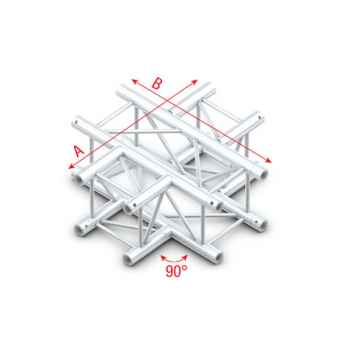 Showtec Cross 4-way Cruce Cuadrado 4 Direcciones para Truss GQ30016