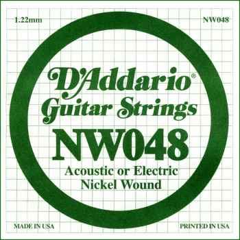 D´addario NW048 Cuerda Suelta para Guitarra Eléctrica