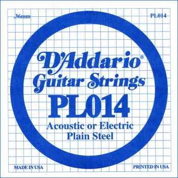 D´addario PL014 Cuerda Suelta para Guitarra Eléctrica y Acústica