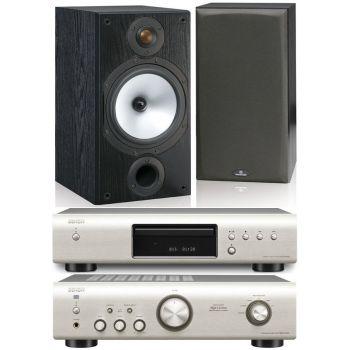 Equipo HiFi. Amplificador DENON PMA-520 S + CD DCD-520 S + Altavoces HiFi Monitor Audio MR1 BK