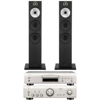 Denon PMA-800AE Silver+DCD800 Silver+BW 603 Black Conjunto Audio