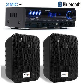 Equipo Karaoke Amplificador Bluetooth Audibax ZERO 500 30W RMS + Altavoces Audibax PR42B