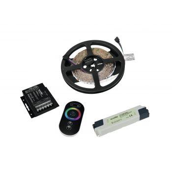 Eurolite Set LED Strip RGB 5m con RF Controller y Transformer 24V