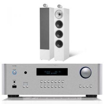 ROTEL RA-1592 Silver + Bower Wilkins 702 White Conjunto audio