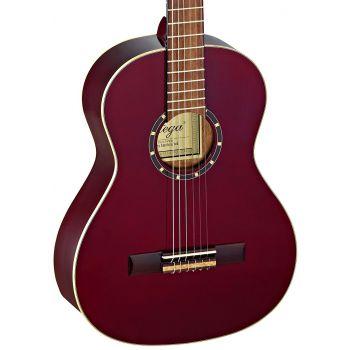 Ortega R121-3/4WR Guitarra Clásica Wine Red