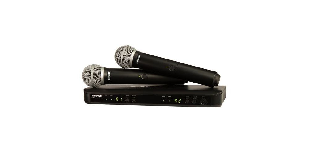 SHURE BLX288 PG58 Microfono inalambrico dual de  Mano Capsula PG58
