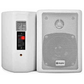 SKYTEC 100016 Conjunto de Altavoces Stereo Blanco 75W